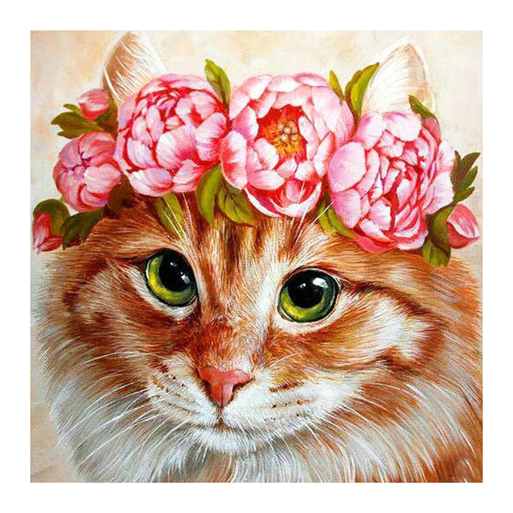 Diamond Painting-5D Full Round Drill Cat