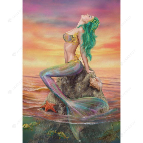 Diamond Painting-5D DIY Special Shaped Partial Drill Mermaid