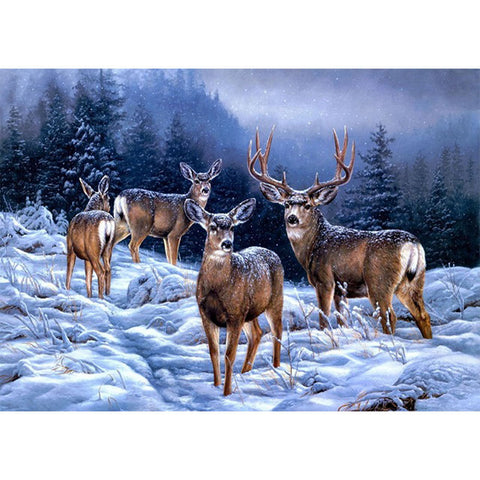 Diamond Painting-5D Full Round Drill Deer