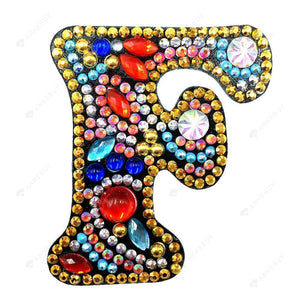 DIY Diamond Painting Keychain-Letter F Women Bag Keyring Pendant Gift