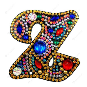 DIY Diamond Painting Keychain-Letter Z Women Bag Keyring Pendant Gift