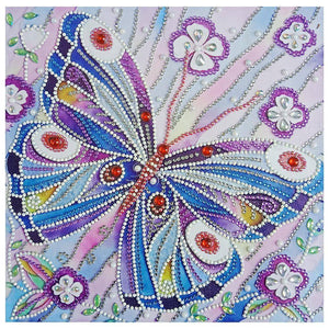 Diamond Painting-DIY Rhinestones Partial Drill Butterfly
