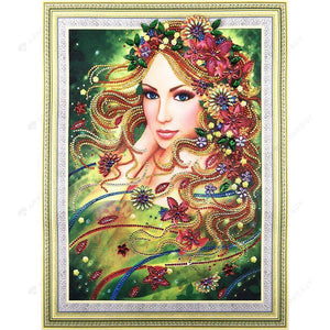 Diamond Painting-DIY Crystal Rhinestone Beauty