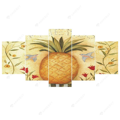 Diamond Painting-DIY Full Round Drill 5pc Pineapple Room Wall Decor