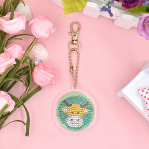 DIY Diamond Painting Keychain-1pc Taurus