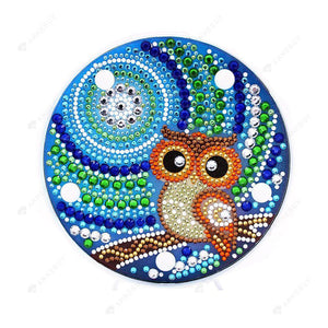 DIY Diamond Painting LED Lamp Full Drill Rhinestones Owl Kid Room Decor
