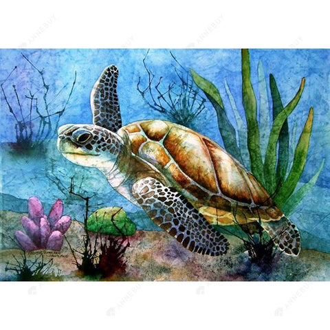 Diamond Painting-DIY Full Square Drill Sea Turtle
