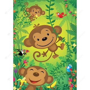 Diamond Painting-DIY Full Square Drill Cartoon Monkey