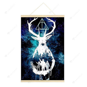 Hanging Diamond Painting-DIY Full Round Drill Starry Night Deer(No need for frame)