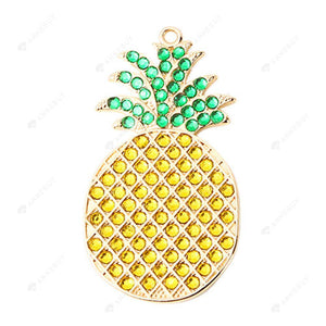 DIY Diamond Painting Keychain/Necklace-Full Round Drill Pineapple