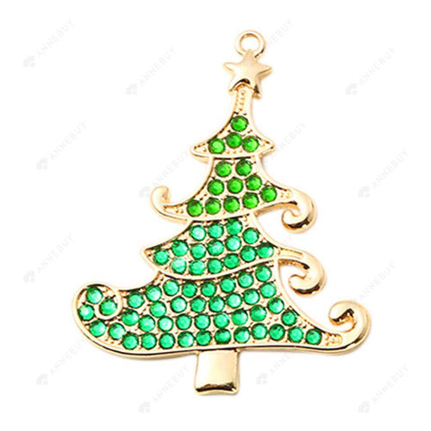 DIY Diamond Keychain/Necklace-Full Round Drill Christmas Tree