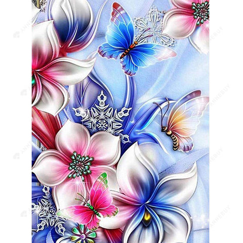 Diamond Painting-DIY Crystal Rhinestones Partial Drill Abstract Flower
