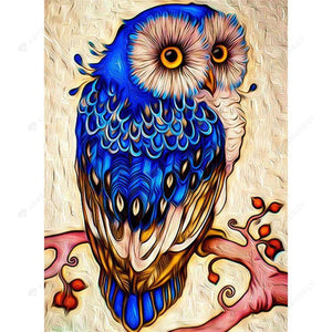 Diamond Painting-DIY Crystal Rhinestones Partial Drill Owl