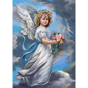 Diamond Painting-5D Full Round Drill Angel