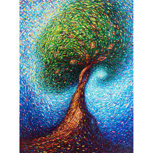 Diamond Painting-5D Full Square Drill Tree