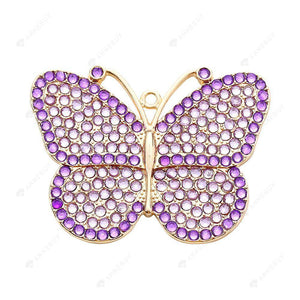 DIY Diamond Painting Keychain/Necklace-Full Round Drill Butterfly