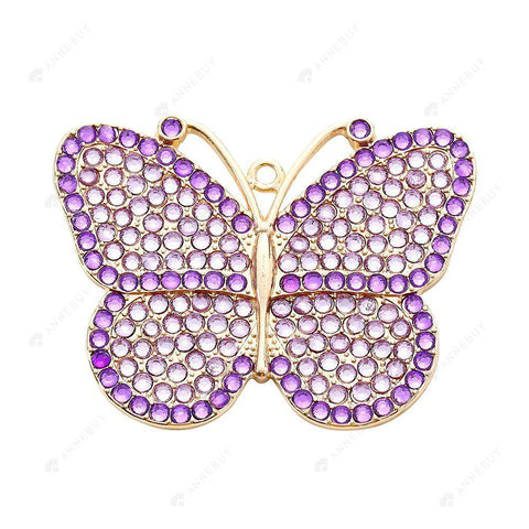 DIY Diamond Keychain/Necklace-Full Round Drill Butterfly
