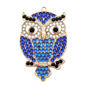 DIY Diamond Painting Keychain/Necklace-Full Round Drill Owl