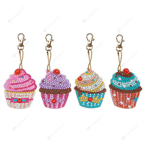 DIY Diamond Painting Keychain-4pcs/set Ice Cream