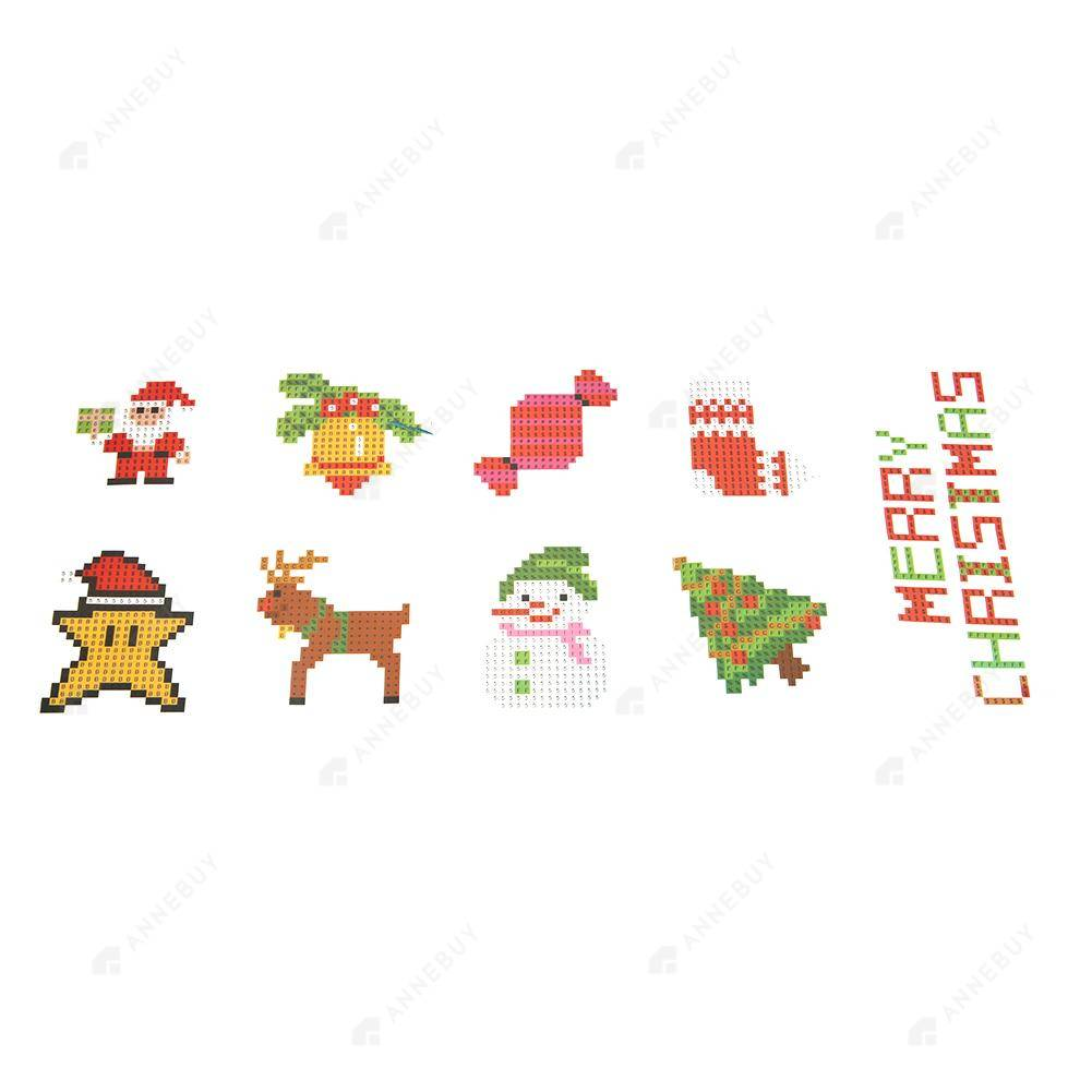 Diamond Painting Stickers-5D Full Round Drill Christmas