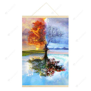 Hanging Diamond Painting-DIY Full Round Drill Four Season Tree(No need for frame)