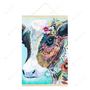 Hanging Diamond Painting-DIY Full Round Drill Colorful Cattle(No need for frame)