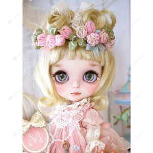 Diamond Painting-DIY Full Round Drill Pink Doll