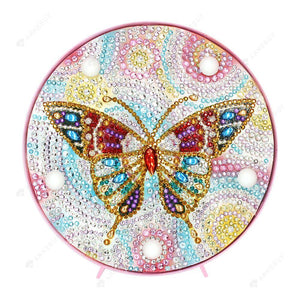 DIY Diamond Painting LED Lamp Full Drill Rhinestones Color Butterfly Room Decor