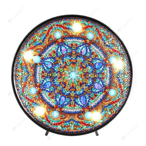 DIY Diamond Painting LED Lamp Crystal Rhinestone Sweet Mandala Room Decor