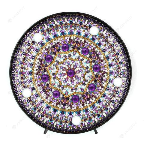 DIY Diamond Painting LED Lamp Crystal Rhinestone Dream Mandala Room Decor