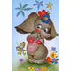 Diamond Painting-5D Full Round Drill Cute Elephant