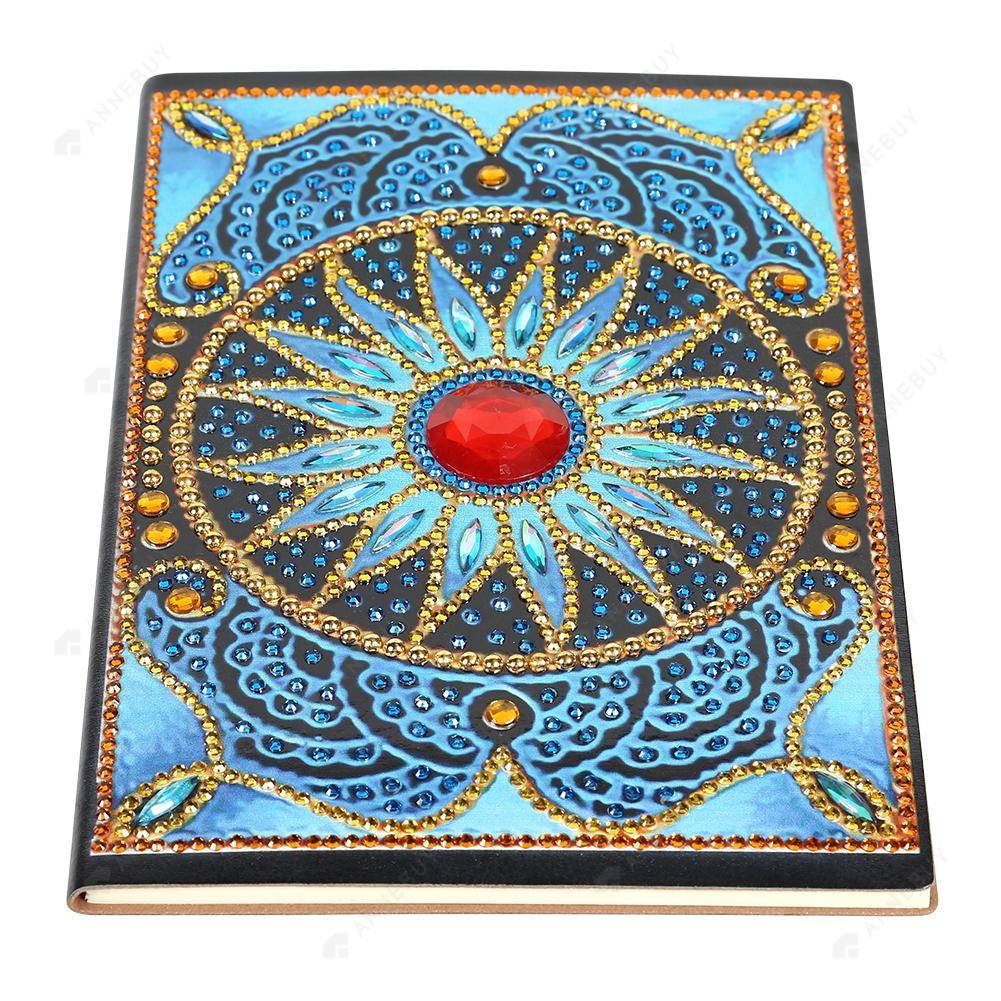 DIY Crystal Rhinestones Diamond Painting Circle Mandala Notebook