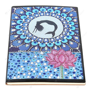 DIY Crystal Rhinestones Diamond Painting Mermaid Notebook