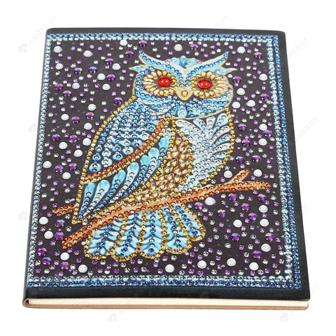 DIY Crystal Rhinestones Diamond Painting Bird Notebook