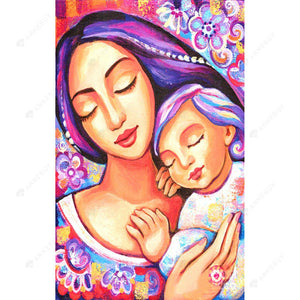 Diamond Painting-5D Full Square Drill Mother And Child Full Of Love