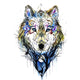 Diamond Painting-5D Full Square Drill Tattoo Wolf