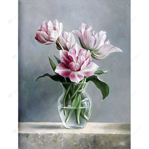 Diamond Painting-5D Full Round Drill Elegant Flower