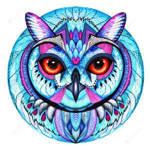 Diamond Painting-5D Full Square Drill Cold Owl