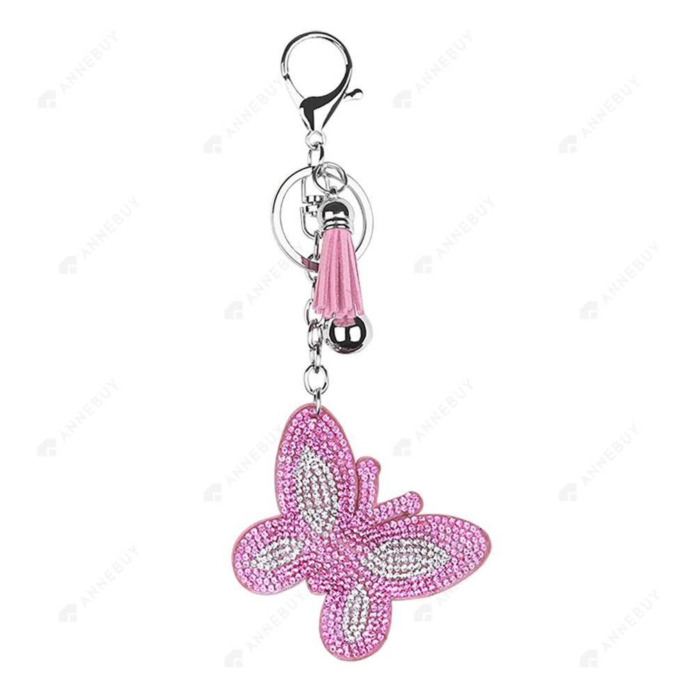 DIY Diamond Keychain-1pc Full Drill Crystal Rhinestones Butterfly