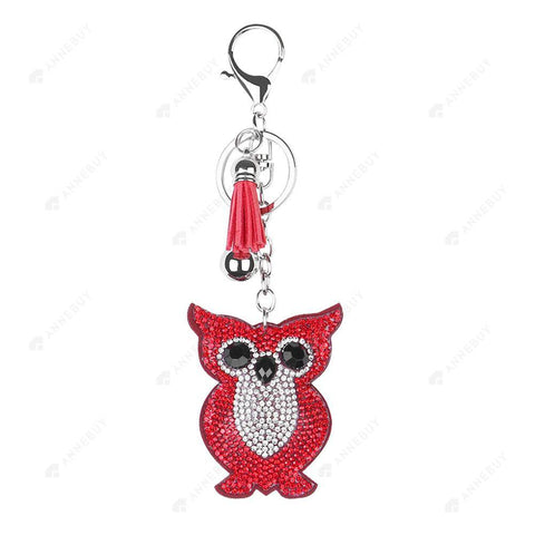 DIY Diamond Keychain-1pc Full Drill Crystal Rhinestones Owl