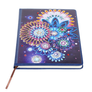 DIY Crystal Rhinestones Diamond Painting Mandala 100 Pages Notebook Sketchbook