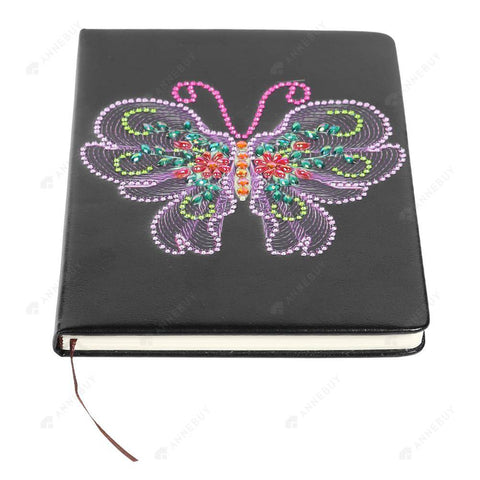DIY Crystal Rhinestones Diamond Painting Butterfly 100 Pages Notebook Sketchbook