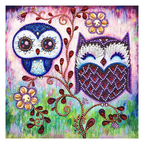 Diamond Painting-DIY Crystal Rhinestone Lovely Owl