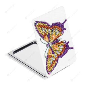 Diamond Painting Mini Makeup Vanity Mirror-DIY Crystal Rhinestone Unique Butterfly