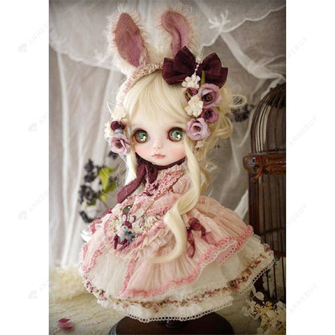 Diamond Painting-5D Full Round Drill Sweet Doll
