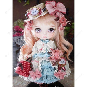 Diamond Painting-5D Full Round Drill Sweet Girl Doll