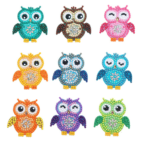 Diamond Painting Stickers-DIY Crystal Rhinestone Cartoon Owl