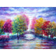 Diamond Painting-5D Full Round Drill Colorful Tree