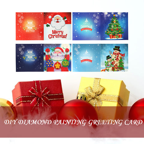 5D DIY Diamond Painting Greeting Card Special-shaped Birthday Festival Card