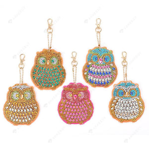 DIY Diamond Painting Keychain-5pcs/set Owl